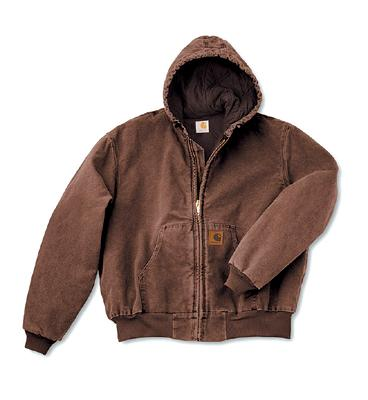 Carhartt 2X Regular Midnight Quilted Flannel Lined 12 Ounce Cotton Sandstone Duck Active Jacket