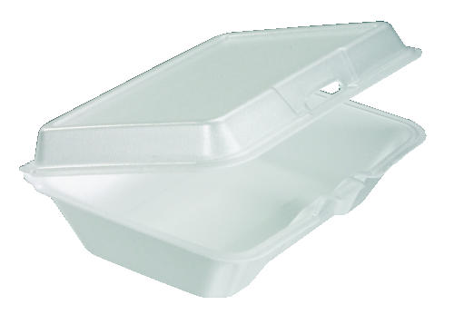 C-FOAM HINGED TRAY|1 CO REMOVABLE LID|2/100'S