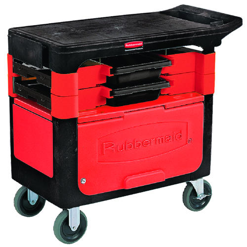 C-TRADES CART WITH LOCK CABINET BLACK