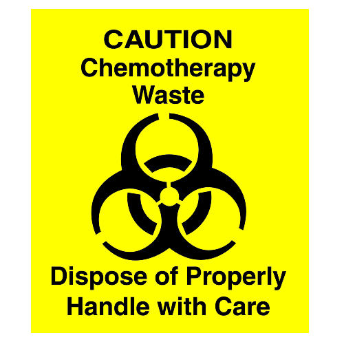 C-YELLOW CHEMOTHERAPY DECAL 6I SQUARE