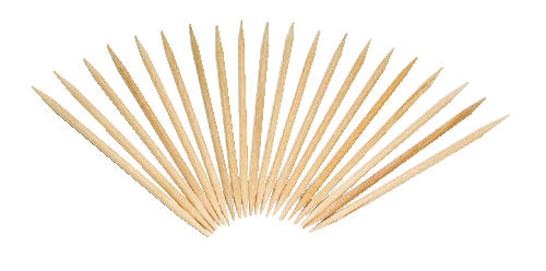 C-RND TOOTHPICKS PLAIN 24BX/800PK