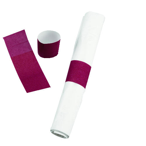 NAPKIN BANDS SELF STICK WHI 2000